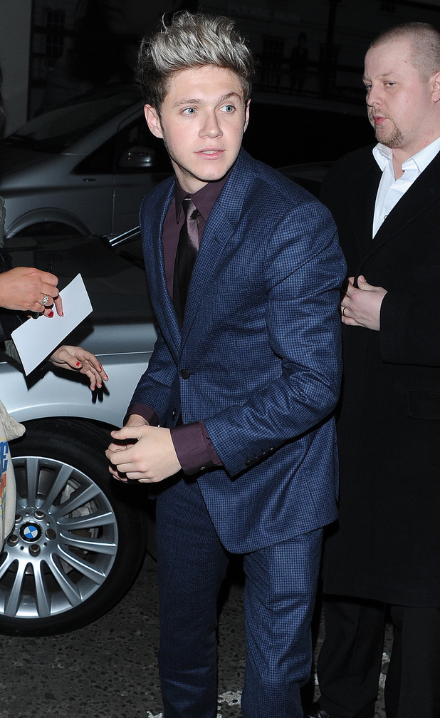 Niall Horan at the Class of 92 after party, 1.12.13