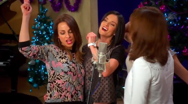 Lindsay Armaou from B*Witched: Big Reunion Christmas single video - 3 December 2013