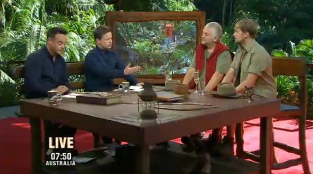Kian Egan and David Emanuel on I'm A Celebrity final, episode 8 December 2013