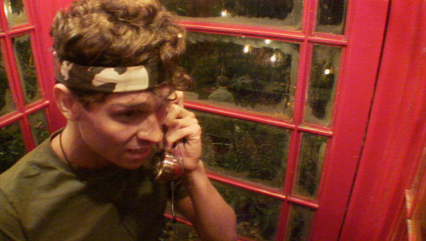 Joey Essex speaks to his Dad during I'm A Celebrity 2013, December 6 2013