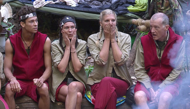 'I'm A Celebrity Get Me Out Of Here' TV Programme, Australia - 04 Dec 2013 Lucy Pargeter, Steve Davis, Joey Essex and Rebecca Adlington find out who has been voted out of the jungle.