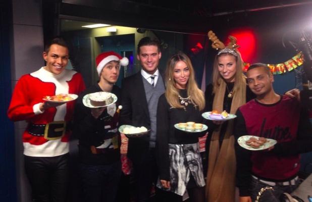 TOWIE stars visit Radio 1's Matt Edmondson show, 8 December 2013