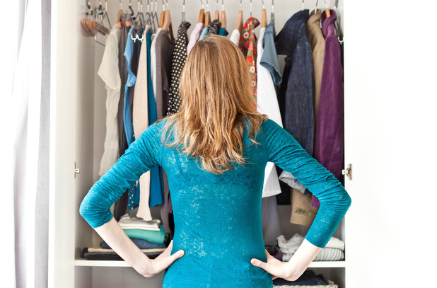 Various Model released - Woman choosing clothes. 2012