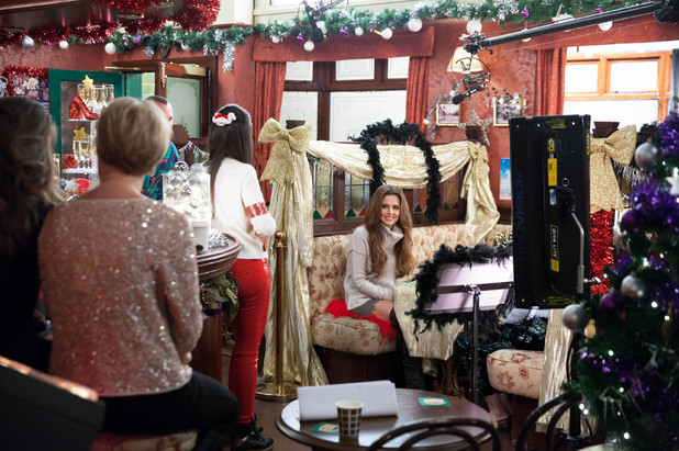 Cheryl Cole joins Michelle Keegan and Coronation Street cast for Text Santa episode - 5 December 2013