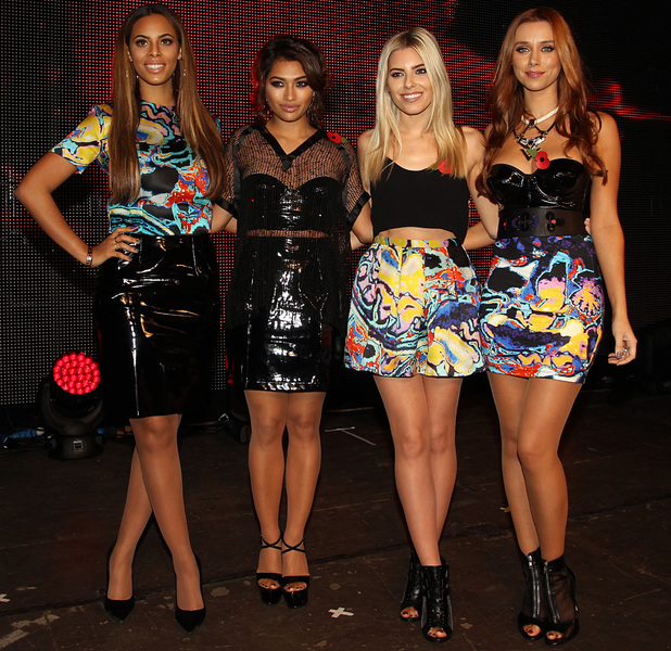 The Saturdays, Mollie King, Rochelle Humes, Vanessa White, Una Healy at the Poppy Appeal Launch Gig in London - 24 October 2013