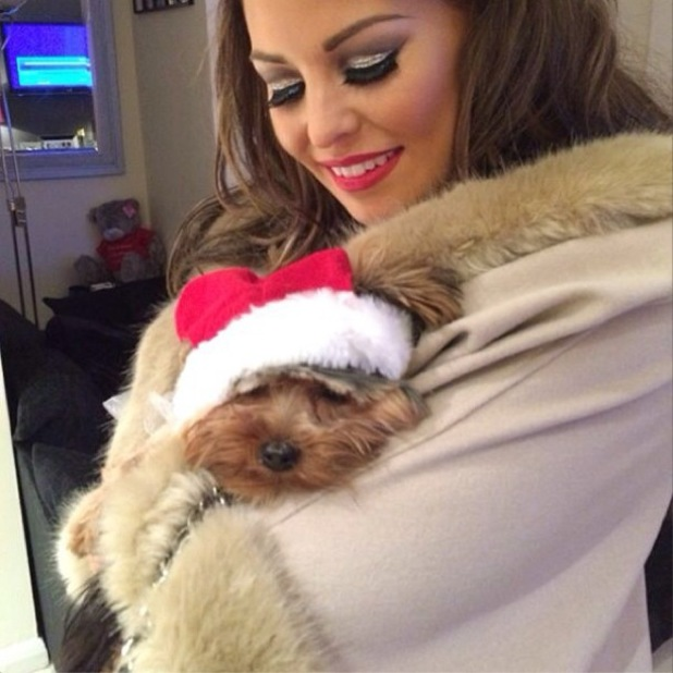 Jessica Wright shows off make-up look by Krystal Dawn for TOWIE Christmas special - 1 December 2013