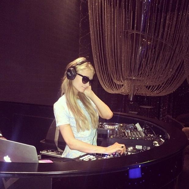 Paris Hilton at the Cavalli Club in Dubai - 1 December 2013
