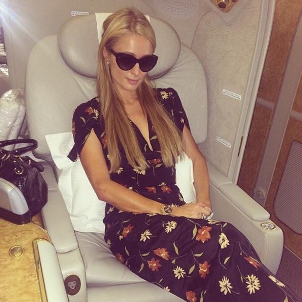 Paris Hilton lands in Dubai - 30 November 2013