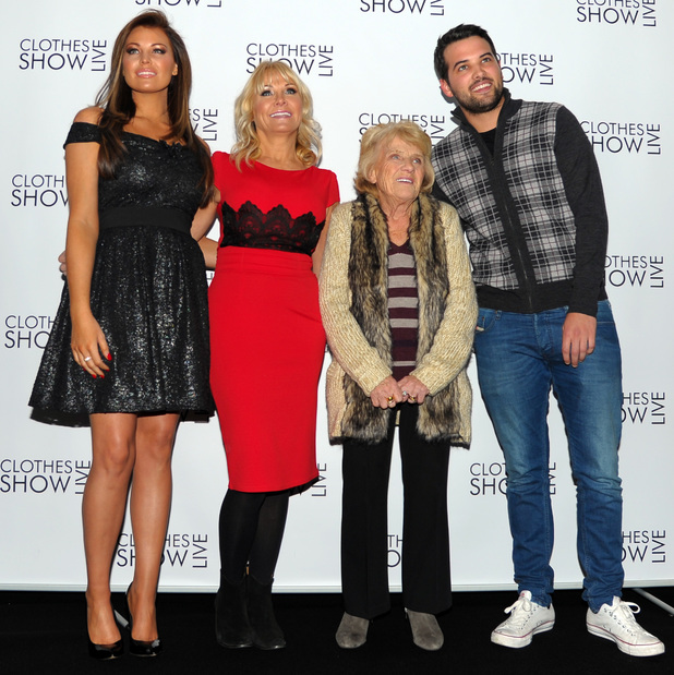 Jessica Wright, Carol Wright, Nanny Pat and Ricky Rayment at Clothes Show Live at Birmingham's NEC - Day 1 12/06/2013. Birmingham, United Kingdom