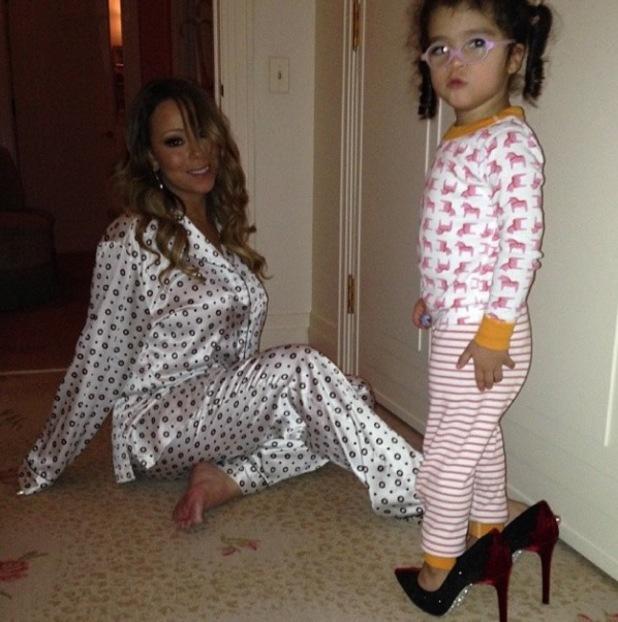 Mariah Carey wears two dresses in one night at Christmas ... Mariah Carey Instagram
