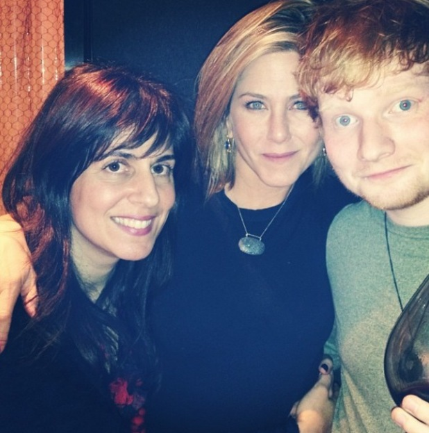 Ed Sheeran spends Thanksgiving in America with Jennifer Aniston and her manager Aleen Keshishian - 29.11.2013