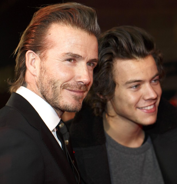 'The Class of 92' Film Premiere, London, Britain - 1 Dec 2013 David Beckham and Harry Styles