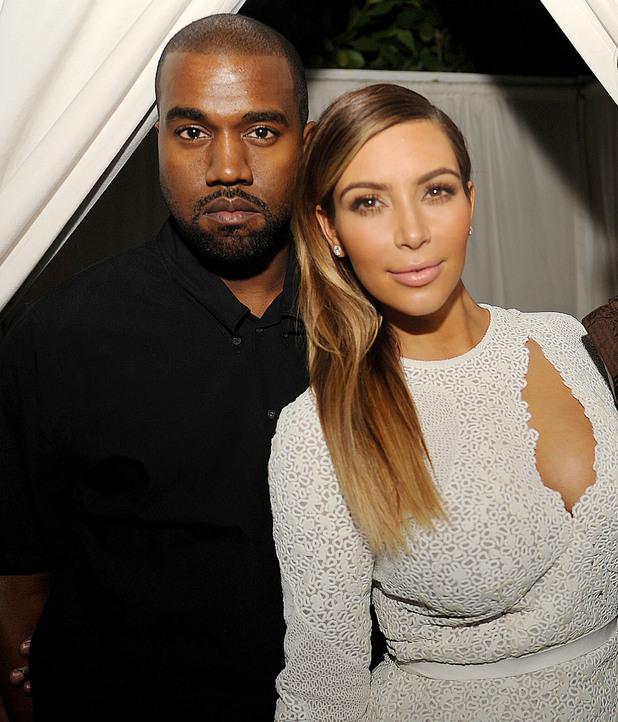 DuJour Magazine event to honor artist Marc Quinn at Art Basel Miami Beach, America - 05 Dec 2013 Kanye West, Kim Kardashian