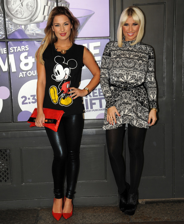 Sam Faiers and Billie Faiers arrive in Covent Garden for a promotional event at the Casio store - 6.12.2013