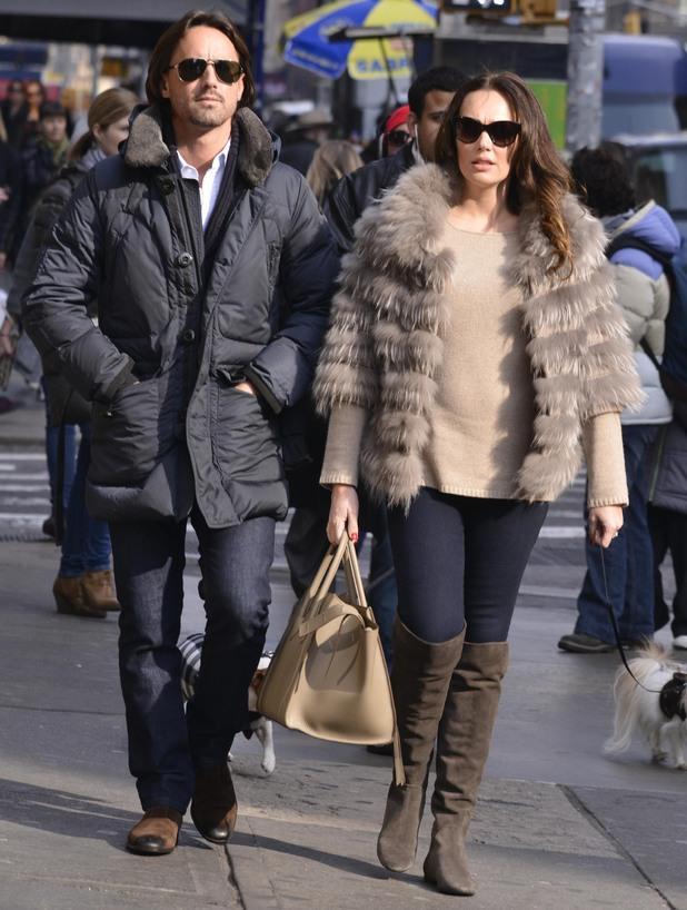 Tamara Ecclestone and husband Jay Rutland in Soho, New York. 3 December 2013