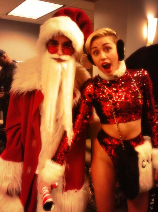 Miley Cyrus shares picture from behind the scenes of KIIS FM's Jingle Ball At Staples Center, 6 Dec 2013