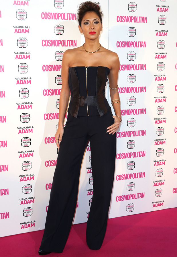 Nicole Scherzinger arrives at Cosmopolitan Ultimate Women of the Year Awards 2013 held at the V&A museum - 6 December 2013