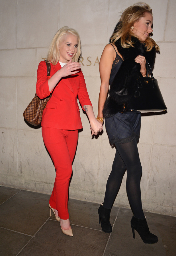 Helen Flanagan leaving the Zuma restaurant with Kimberley Garner, London, Britain - 07 Dec 2013