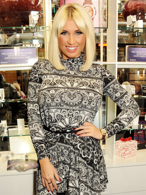 Billie Faiers at the Casio Sheen store on London's Covent Garden, December 2013 [publicity shot - one use only]