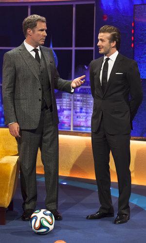 'The Jonathan Ross Show' TV Programme, London, Britain - 14 Dec 2013 Will Ferrell and David Beckham
