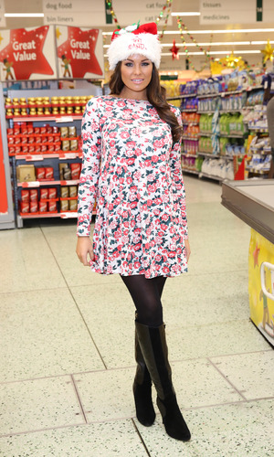 Celebrities surprise Morrisons shoppers by packing their bags to help raise money for ITV's 'Text Santa' charity appeal - Jess Wright, 12.12.2013