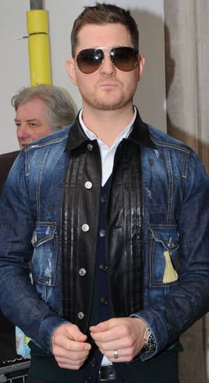 Celebrities at BBC Radio 2 studios, London, Britain - 10 Dec 2013 Michael Bublé
