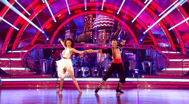 Natalie  Gumede & Artem Chigvintsev  on Strictly Come Dancing, BBC