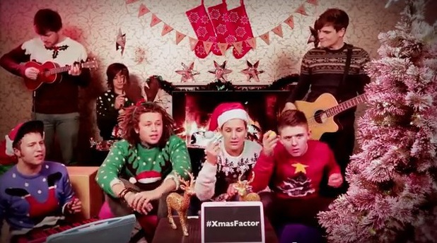 X Factor finalists Luke Friend, Sam Bailey and Nicholas McDonald perform Christmas song, 'I Wish It Could Be Christmas Everyday'.