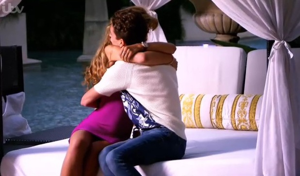 Joey Essex comforts Amy Willerton on the I'm a Celebrity... Get Me Out of Here! Coming Out show.