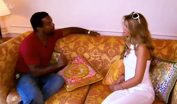 Amy Willerton speaks to Alfonso Ribeiro in the I'm a Celebrity... Get Me Out of Here! Coming Out show.