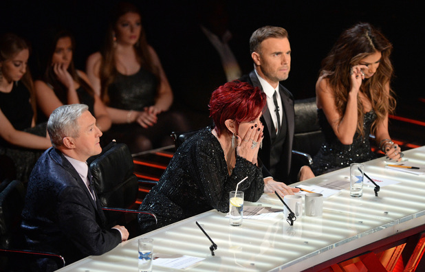 'The X Factor' TV show, London, Britain - 08 Dec 2013 Judges - Louis Walsh, Sharon Osbourne, Gary Barlow and Nicole Scherzinger