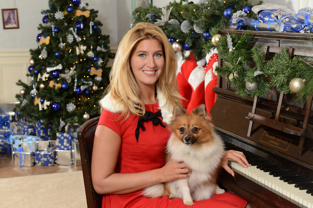 Cheska Hull takes dog Evie to Battersea Dogs and Cats Home - 16 December 2013