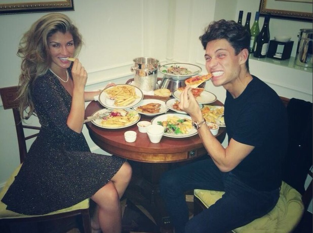 Joey Essex and Amy Willerton eat room service together in Australia - 9 December 2013