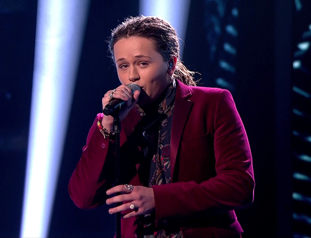 The X Factor Caption:Luke Friend performs during 'Beyonce Vs Elton John' week on 'The X Factor', Shown on ITV1 HD