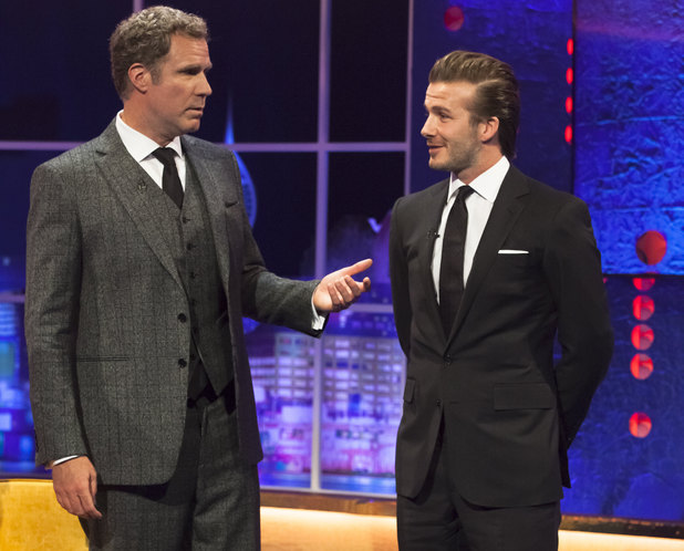 'The Jonathan Ross Show' TV Programme, London, Britain - 14 Dec 2013 Will Ferrell and David Beckham