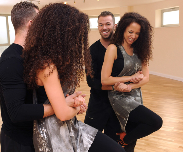 Natalie Gumede and Artem Chigvintsev rehearsing for Strictly Come Dancing 26 Sep 2013