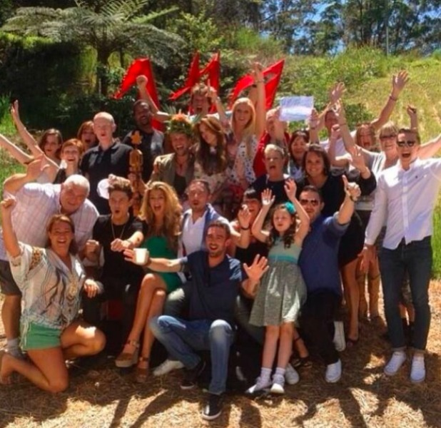 "Kian Egan tweets picture of the I'm A Celebrity team with the message: ""Missing my jungle family. What a crazy adventure. Love this lot!:-)"" 14 December 2013"