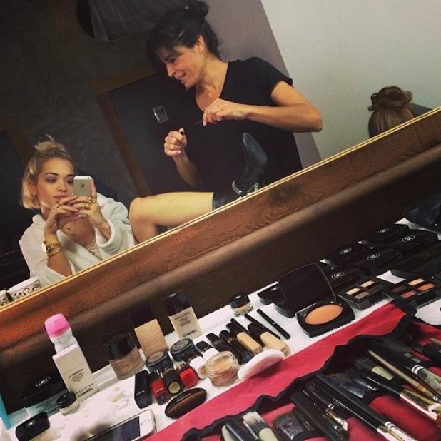 Rita Ora prepares for Material Girl photoshoot in Miami - 10 December 2013