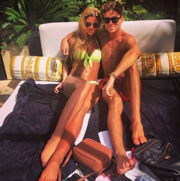 Joey Essex and Amy Willerton relax together on sun lounger in Australia - 9 December 2013
