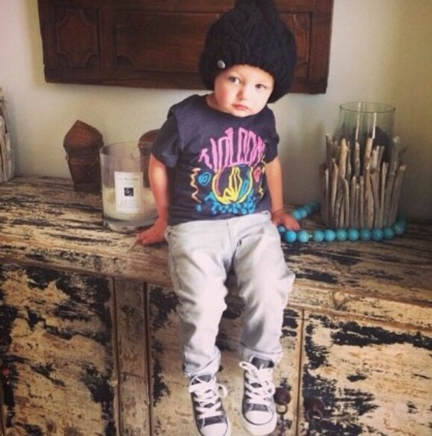 Kian Egan shares cute picture of his and Jodi Albert's son Koa - 11 December 2013