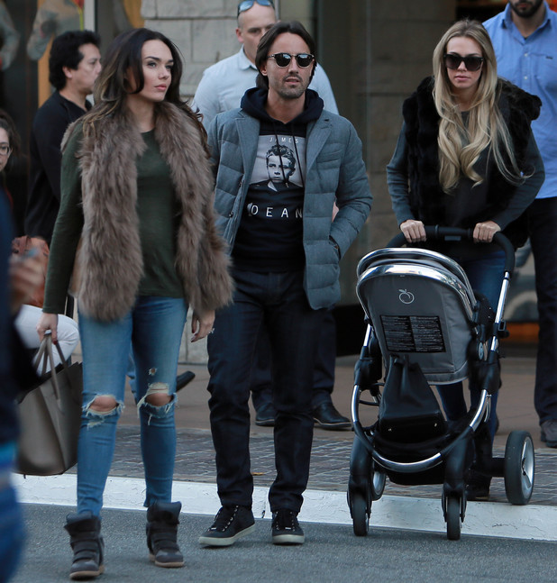 Petra Ecclestone with baby Lavinia shop at The Grove Shopping Mall in West Hollywood with her sister Tamara and her husband Jay Rutland - 10.12.2013