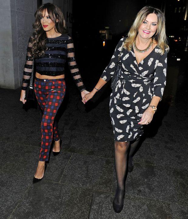 Maria Fowler and her mum leaving STK restaurant in London, 14 December 2013
