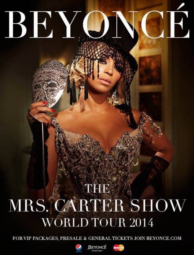 Beyonce announces 2014 tour dates in UK and Ireland for Mrs Carter World Tour