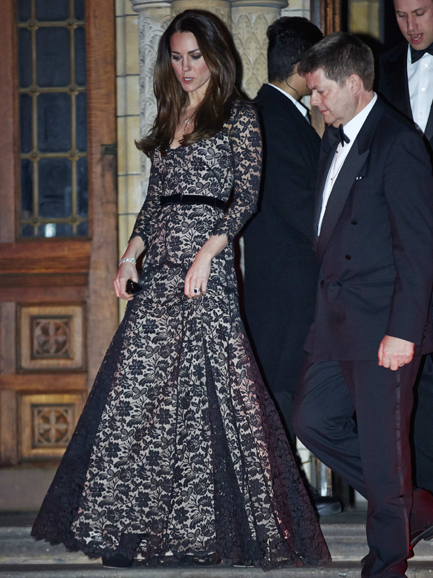 David Attenborough's: 'Natural History Museum Alive' screening, London, Britain - 11 Dec 2013 Prince William and Catherine Duchess of Cambridge