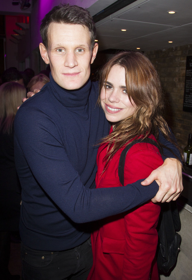 Billie Piper and Matt Smith - 'American Psycho' play press night after party, London, Britain - 12 Dec 2013