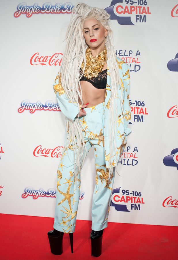 Lady Gaga at Capital FM's Jingle Bell Ball at the 02 Arena in London - 8 December 2013