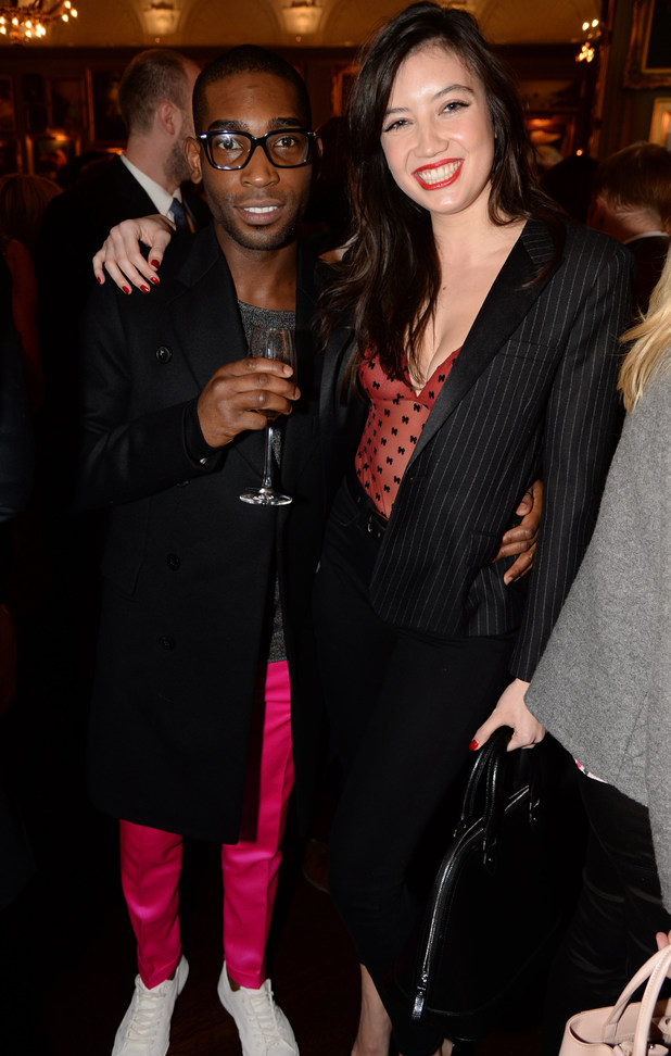 The GQ Christmas Lunch Party, London, Britain - 10 Dec 2013 Tinie Tempah and Daisy Lowe