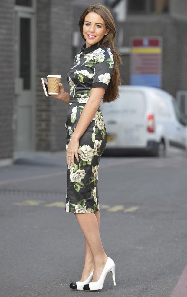 Lydia Bright outside the ITV studios in London - 9 December 2013