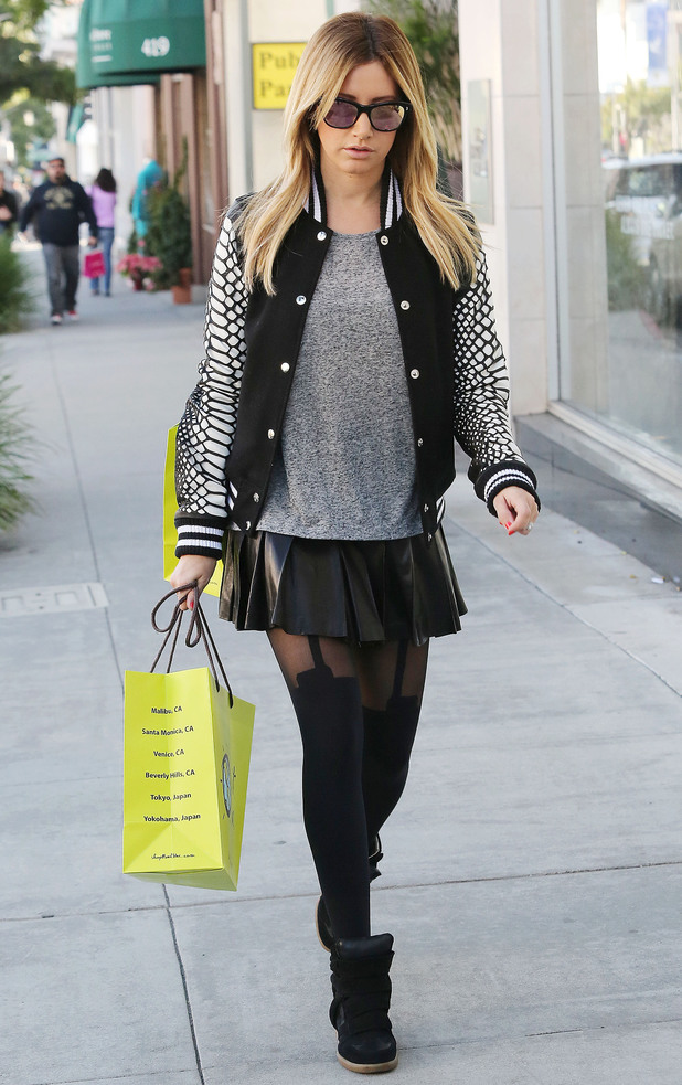 Ashley Tisdale out and about in Los Angeles, America - 12 Dec 2013