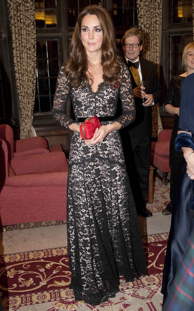 Kate Middleton - University of St Andrews 600th Anniversary Fundraising Auction, Middle Temple Hall, London, Britain - 08 Nov 2012